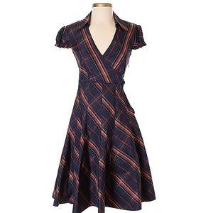 Moda International Tartan Print Cap Sleeve Dress